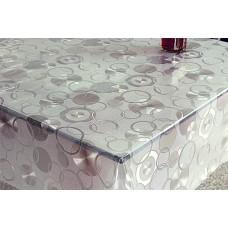 Клеенка VALENCIA 3D transparent/1,37*20м/без основы/Донклеенка
