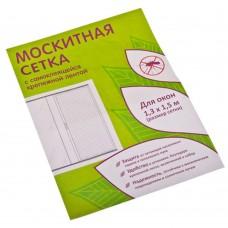Москитная сетка для окон с крепежной лентой 1,3*1,5м, в пакете 37*17*2/ГЦ