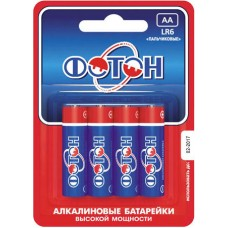 Батарейка LR06 ОP4 /ФОТОН/4/мин40/480