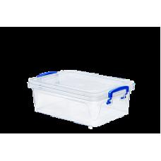 Контейнер пласт. д/хран. квадрат. Fresh Box slim/ 0,6л/Эльфпласт/1/72