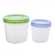 Комплект контейнеров пласт. круглых (2шт)/0,5 л. + 1,0 л/Полимербыт/1/30