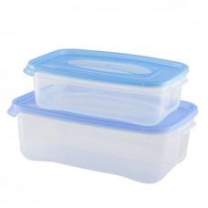 Комплект контейнеров пласт. д/СВЧ прямоуг. (2шт)КАСКАД/(1,2+2,2л)/1/18 /Полимербыт