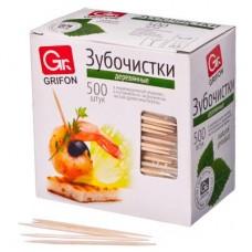 Зубочистки из дерева 500шт/в индивидуальной упаковке/400-512/GRIFON /ГЦ