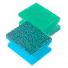 Набор губок для мытья посуды 2шт 8,5*6,5*4,3см/ГЦ