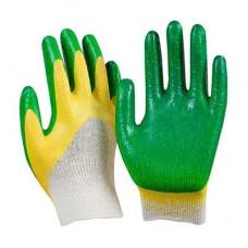 Перчатки вязанные х/б обливные с 2-слойным латексным покрытием/ 1/МИН10/200 /ГЦ
