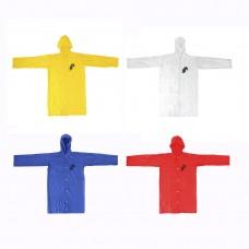 Дождевик детский плотный ПВХ 50*75см 110 мкр 4 цвета/ГЦ