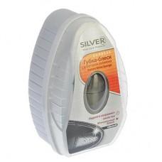 Губка-блеск д/обуви с дозатором, силикон/антистатик, 6мл, черный /SILVER /ГЦ