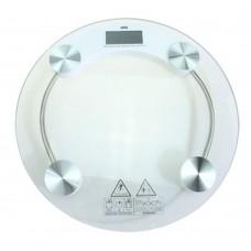 Весы напольные электрон ЖК дисплей макс нагр до 180кг стекло d33*0.8см/ГЦ