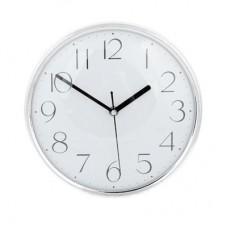 Часы настенные пластик 25см/Металлик/серебро /ГЦ