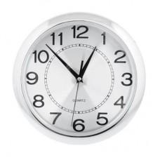Часы настенные пластик 26см/Хром /ГЦ
