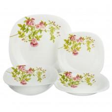 Набор столовой посуды 13 пр, опаловое стекло/квадратная форма/Верона/MILLIMI/ /ГЦ
