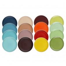 Набор тарелок 4шт., 18,8см, керамика, 4 цвета