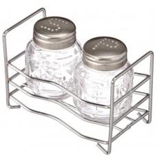 Набор для специй на подставке, стекло металл h6см/Практик/ /ГЦ
