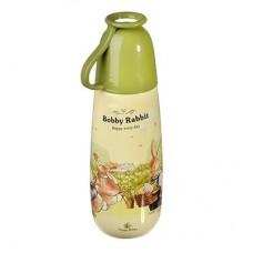 Бутылочка с кружкой 650мл Зайчата/пластик /ГЦ