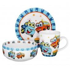 MILLIMI Машинки Набор детской посуды 3 предмета, костяной фарфор
