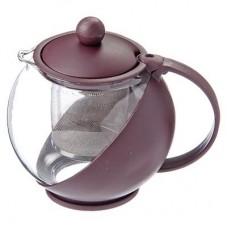 Чайник заварн. стекло-пластик  750мл/ситечко нерж. сталь/3 цвета /ГЦ