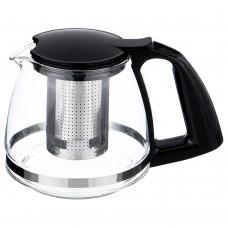 Чайник заварочный Стекло/Коррозионностойкая сталь/Пластик с фильтром 750мл/Арти-М