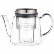 Заварочный чайник со стекл. фильтром 800мл/жаропрочное стекло/18шт/Арти-М