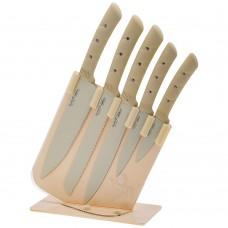 Набор ножей на пластиковой подставке/6 предметов/Аgness/1/6набор/Арти-М