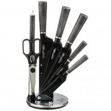 Набор ножей с ножницами и мусатом на пластиковой подставке/8 предметов/Аgness/Арти-М