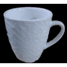 Кружка фактурная 340мл/декор 1/белый/МИН 32/Кубаньфарфор