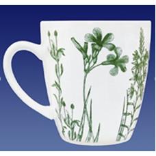 Кружка 340мл/декор 1.81/гербарий травы зеленый/МИН 32/Кубаньфарфор