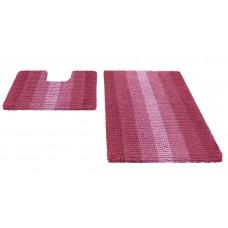 Набор ковриков  60*90+60*50см/MULTIMAKARON/розовый/SHAHINTEX/1/10