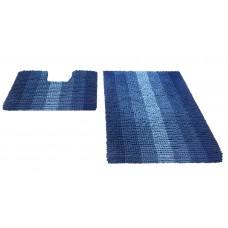Набор ковриков  60*90+60*50см/MULTIMAKARON/синий/SHAHINTEX/1/10