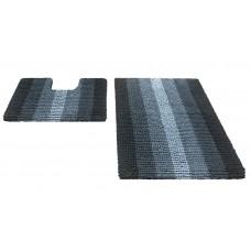 Набор ковриков  60*90+60*50см/MULTIMAKARON/черный/SHAHINTEX/1/10