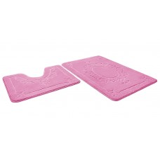Набор ковриков  60*90+60*50см/ЭКО/розовый 64/SHAHINTEX/1/15