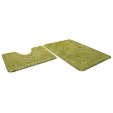 Набор ковриков  45*71+45*43см/ЭКО/салатный 58/SHAHINTEX/1/15
