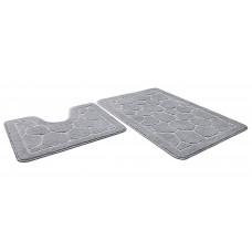 Набор ковриков  45*71+45*43см/ЭКО/серый 50/SHAHINTEX/1/15