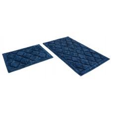 Набор ковриков 60*100+60*50см/BAMBOO LUX/голубой 11/SHAHINTEX/1/10