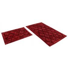 Набор ковриков 60*100+60*50см/BAMBOO LUX/кирпичный 51/SHAHINTEX/1/10