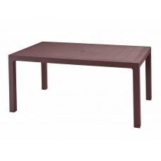 Стол прямоугольный 160*94,5*75см./коричневый/Rodos с декором/Эльфпласт/1/1