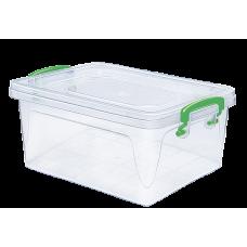 Контейнер пластиковый для хранения 13л. 41*28,5*17,5см./прозрачный/Fresh Box/Эльфпласт/1/20