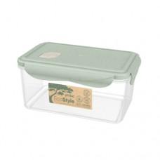 Контейнер для холодильника и СВЧ 1,6л. 20,3*13,2*9,6см./зеленый флэк/Eco style/Бытпласт/1/20