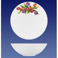 Салатник 160/декор 1.81/тюльпаны/Соната/МИН 10/Кубаньфарфор