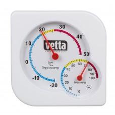 Термомерт мини,измерение влажности воздуха, квадратный 7,5*7,5см/пластик/блистер/INBLOOM/ГЦ
