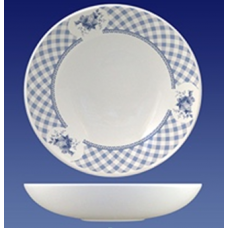 Тарелка суповая 195/декор 1.81/шотландка/Соната/МИН 10/Кубаньфарфор