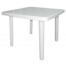 Стол квадратный пластиковый 80*80см. h-75см./белый/Милих/б/уп.