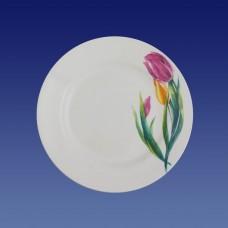 Тарелка мелкая 175мм, гр. 8/Тюльпаны/МИН36/Кубаньфарфор