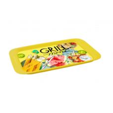 Поднос малый с декором Grill menu 430х268мм/Полимербыт
