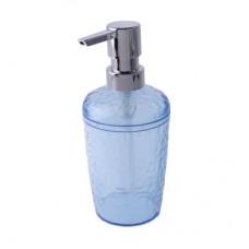 Диспенсер для жидкого мыла 350мл./прозрачно-голубой/Natural stone/Пласт Тим/1/16