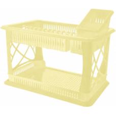 Сушилка для посуды 2 яруса с поддоном/ваниль/Лилия/Plastic Centre/Пластик Репаблик/1/1