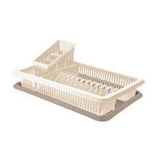 Сушилка для посуды с поддоном 1-а ярусная с сушилкой для столовых приборов/Bono/Пластик Репаблик/1/7