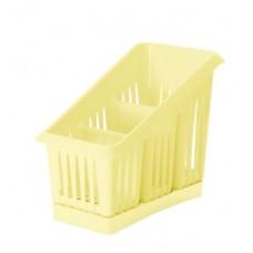 Сушилка для столовых приборов 3 секции 20*12*16см./ваниль/Лилия/Пластик Репаблик/1/35