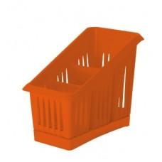Сушилка для столовых приборов 3 секции 20*12*16см./корица/Лилия/Пластик Репаблик/1/35