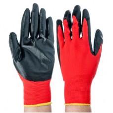 Перчатки садовые нейлоновые с нитриловым полуобливом 10 размер 23,5см 30гр 28*416*6/ГЦ