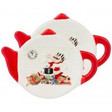 Набор подставок под чайный пакетик из 2шт BELLISSIMO 11,9*8,8*1,7см/Арти-М